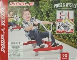 Radio Flyer #625 Kids Ziggle Twist & Wiggle To Glide & Giggle Red Ride O... - $54.95
