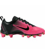 New Nike Hyperdiamond 2 Keystone Black Pink Cleats Softball 856435-066 S... - $25.96