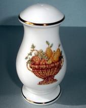 Lenox Mosaico D'Italia Pepper Shaker (or Salt) 3-Hole Basket Motif Gold Trim New - $23.90