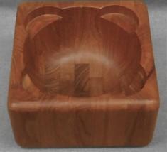 Mid Century NISSEN - DANMARK Flemming Digsmed Design WOOD NUT BOWL Denmark - $39.59