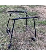 Vtg Record Player TV Stand Cart Iron Salterini MCM mid century modern re... - $199.99