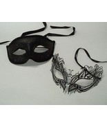Black Butterfly Couples Man Woman Masquerade Mardi Gras Masks Male Femal... - $18.04