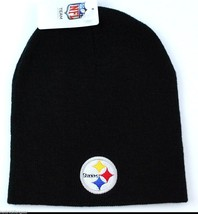 Pittsburgh Steelers NFL Team Apparel Cuffless Knit Team Logo Winter Hat/... - $16.14