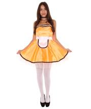 Adult Women's French Maid Uniform Costume   Orange Cosplay Costume - $23.85