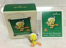 2002 Up to the Tweetop Tweety Mini Hallmark Christmas Tree Ornament MIB ... - $9.41