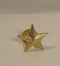 "Textured Star Gold Tone Lapel Pin Tie Tack 1""   - $11.99"