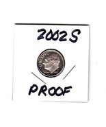 2002-S   ROOSEVELT DIME  PROOF  CONDITION+++FREE SHIPPING - ₨110.59 INR
