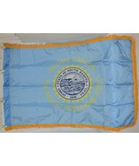 Valley Forge SDakota Flag With Pole Hem And Fringe Three By Five - $24.99