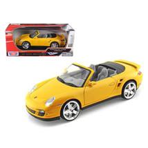 Porsche 911 (997) Turbo Convertible Yellow 1/18 Diecast Car Model by Mot... - $49.17