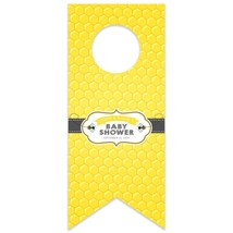 Honey Bee Baby Shower Personalized Water Bottle Hang Tag - $26.24