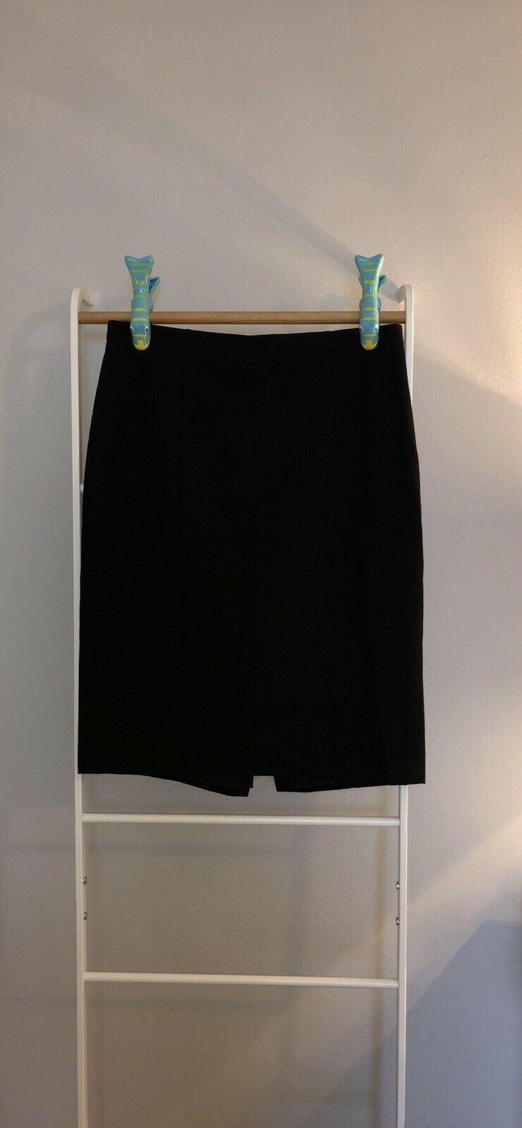 Primary image for NWT Ann Taylor Black Denim Pencil Skirt, Size 8