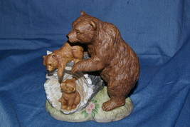 Home Interiors Curious Cubs Figurine Momma Bear Cubs #1435 Homco - $17.00