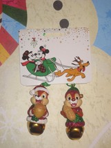 Disney Store Chip 'n Dale Bell Xmas Ornament Set  Brand New. - $19.79