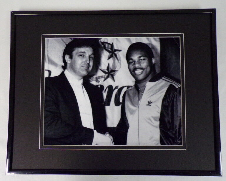 Primary image for Donald Trump & Herschel Walker Framed 11x14 Photo Display New Jersey Generals
