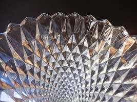 "Indiana Glass Diamond Point Clear Glass Vase  7 3/4"" Vintage - $9.99"