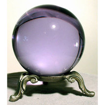 50mm Crystal Gazing Ball with Pewter Stand  image 1