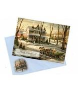 Vintage Merry Christmas Holiday Seasons Greeting Card - $13.66