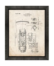 Cathode-ray Tube Electrode Patent Print Old Look with Beveled Wood Frame - $24.95+
