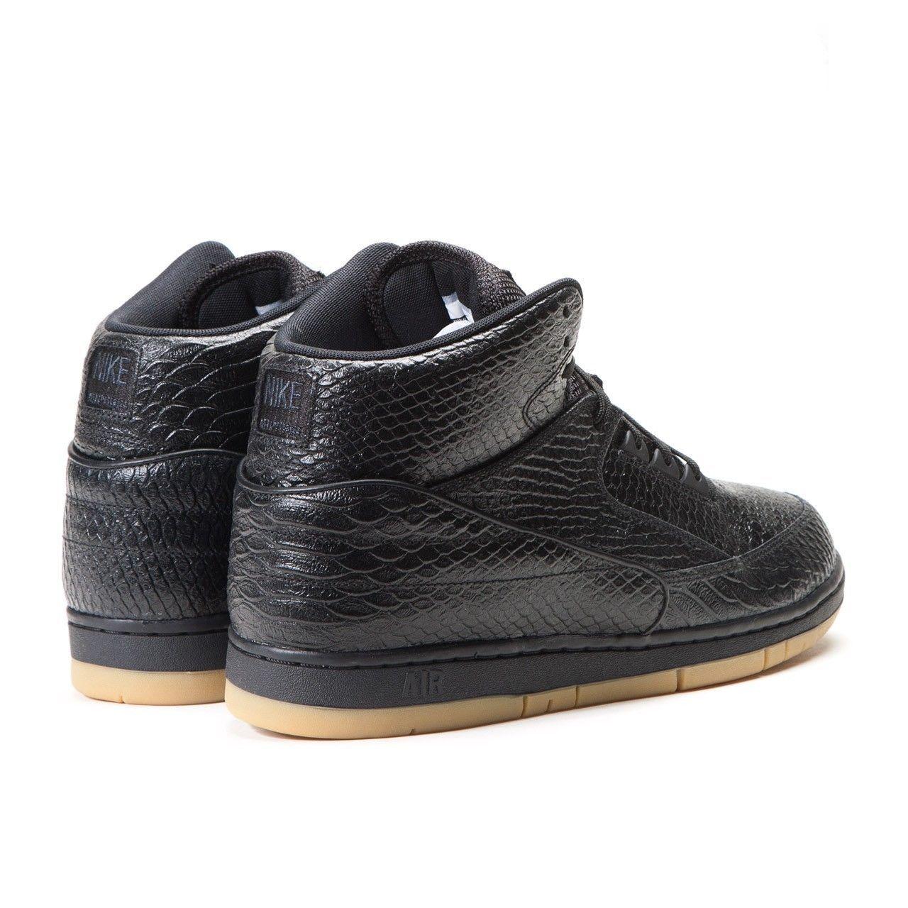 new arrival 85105 13f2e Nike Air Python Premium Black Gum Light Brown 705066 001 Mens Size 8.5
