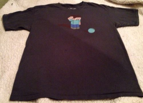 Primary image for Think Geek Mine craft Steve Men's Sz Large Gray Short Sleeve Graphic T-shirt