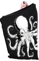 Sourpuss Octopus Punk Goth Nautical Animal Ocean Sea Throw Blanket SPHW126 - $32.72 CAD