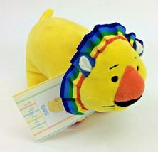 "Baby Ganz Lion Yellow Rattle 4.5"" Primary Velour Plush Stuffed Animal NEW - $9.74"