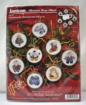 Janlynn Patchwork Christmas Ornaments Counted Cross Stitch Kit - Set of ... - $18.95