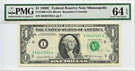 FR. 1906I 1969C $1 Federal Reserve Note Minneapolis PMG Choice Unc 64 EPQ - $33.95