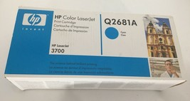 HP Color Laserjet  3700 Print Cartridge Q2681A Cyan Blue NEW Sealed Box ... - $57.00
