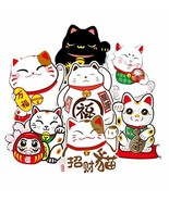 7 Pcs Japanese-Style Lucky Cat Cartoon Suitcase Stickers Refrigerator Gu... - $16.61