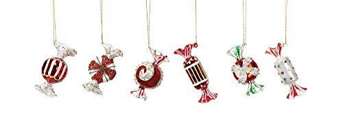 Small Blown Glass Candy Ornaments Set of Six
