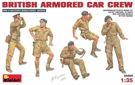Miniart Models - 35069 - British Armored Car Crew - $15.99