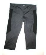 Womens New Zobha Yoga Capri Pants Charcoal Gray Black Run Pilates Barre ... - $31.60
