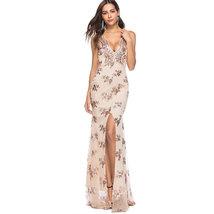 Sexy Women's Spaghetti Split Sequins Club Party Evening Prom Formal Dress SV830 - $29.99