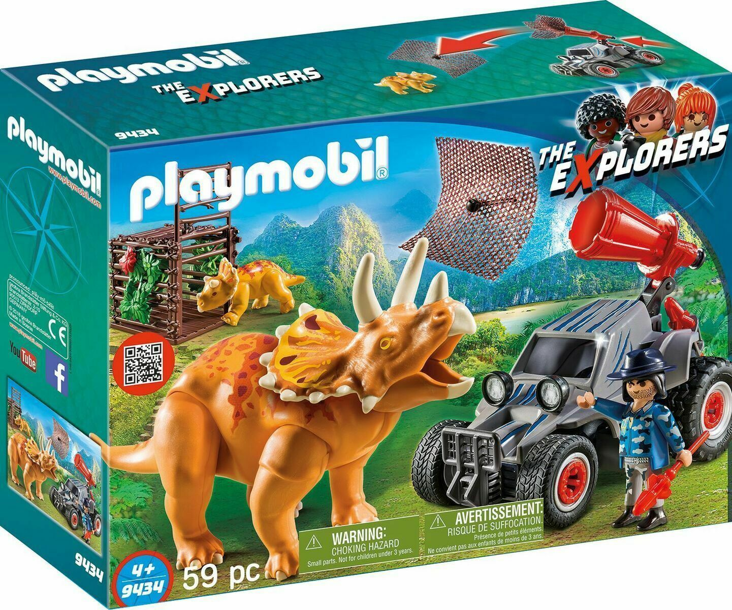 PLAYMOBIL® The Explorers 9434 Off-roader with dinosaurs Net Vehicle - $43.56