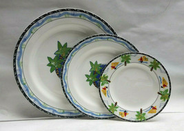 MIKASA Maxima China - FANTASY ISLE Pattern CAK43 - 3 piece PLACE SETTING - $69.95