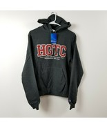 Champion HGTC Hoodie Sweatshirt XS Extra Small Gray Red Horry-Georgetown... - $32.68