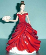 Royal Doulton Marie Pretty Ladies Figurine in Red Gown HN5604 2012 New i... - $168.90