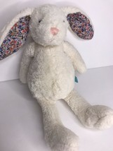 Manhattan Toy Pattern Pals White Bunny Rabbit Plush Floral Flower Print ... - $28.97