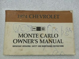 1974 Monte Carlo Owners Manual 16026 - $18.76