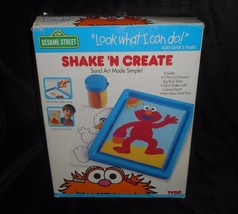 VINTAGE 1994 SHAKE N CREATE TYCO ELMO SESAME STREET SAND ART TOY 100% CO... - $22.21