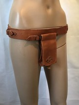 Vintage Leather Holster Style Waist Bag Utility  Pouch Style Carryall Croft - $971,16 MXN