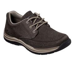 65720 Marron Skechers Chaussures Hommes Mousse à Mémoire de Forme - $39.65
