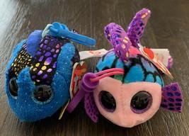 "2017 TY BEANIE BOOS 3"" Fish MWMTs Backpack Key Bag Clip Keychain AQUA & ... - $14.84"