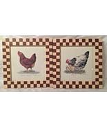 """MARTY FYNE Set Of 2 Signed Framed Prints...""""Pecking Order"""" & """"Ma Ma Hen""""... - $12.19"""