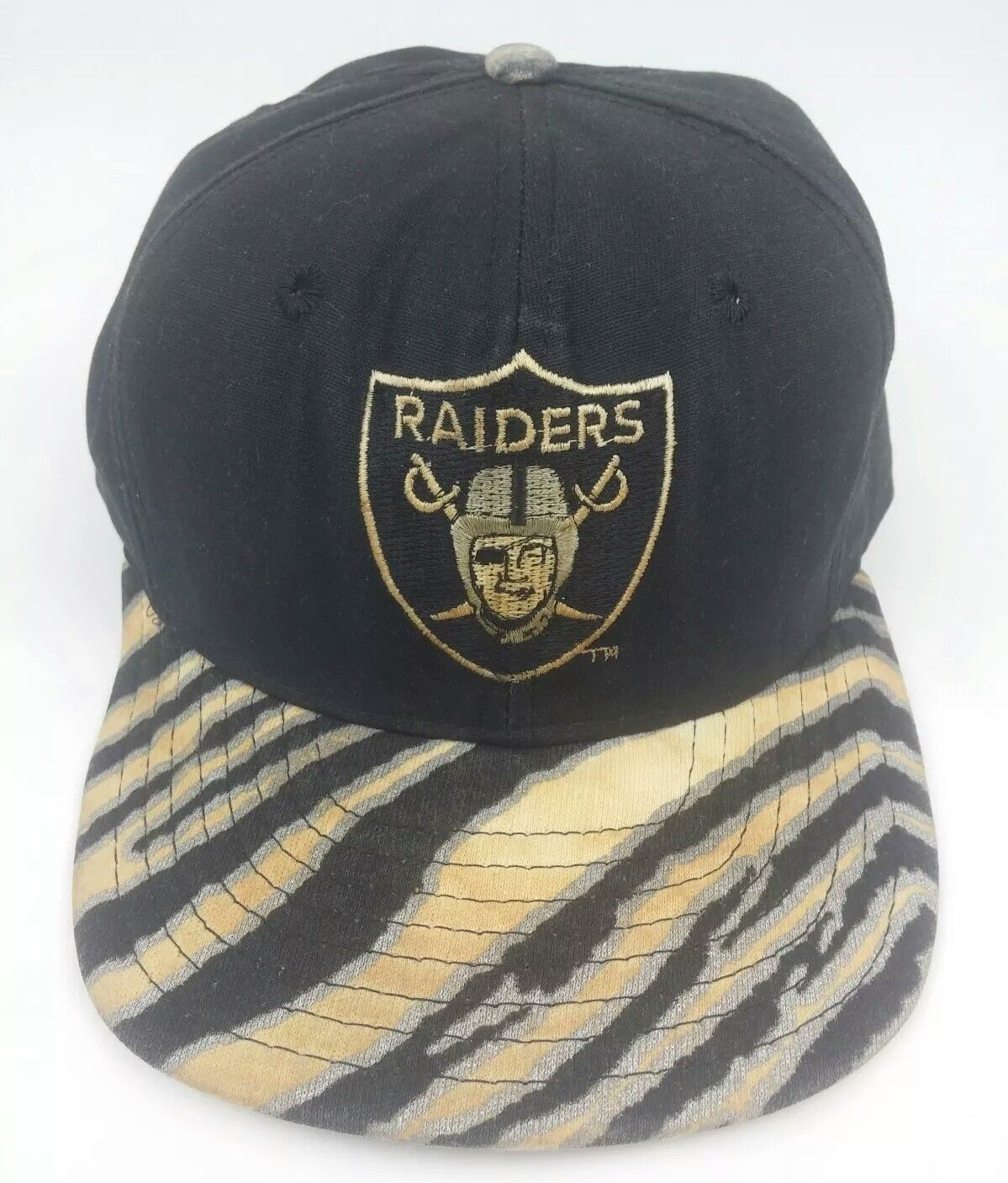 5781d8b9453 Raiders Zubaz Brim Snapback Hat Authentic and 50 similar items. S l1600