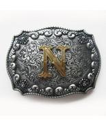 Original Western Initial Letter N Belt Buckle Gurtelschnalle Boucle de c... - $8.90