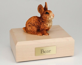 Rabbit Brown & White Figurine Pet Cremation Urn Avail 3 Different Color/... - $169.99+