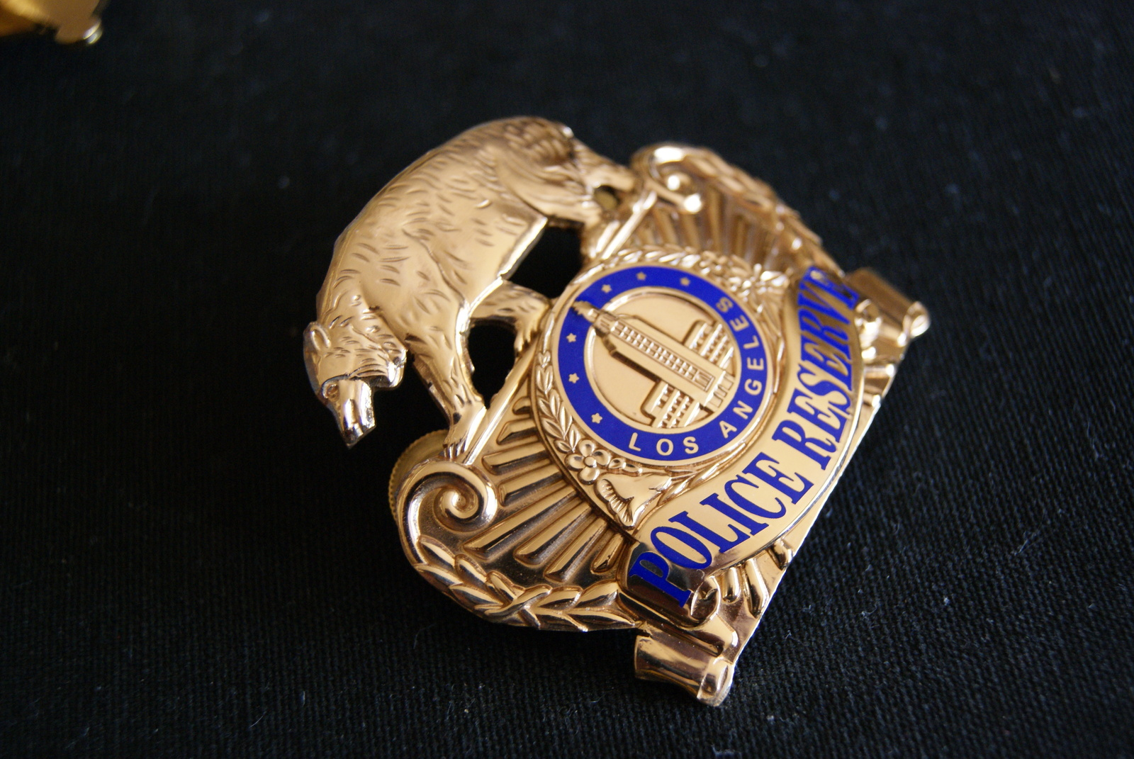 Los Angeles Police. Reserve Police Hat badge, Vintage, Obsolete Badge, Hallmark