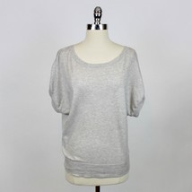 J.Crew Dolman Sleeve Tan Cream Gray Heathered Wool Blend Drapey Sweater Sz S - $14.99